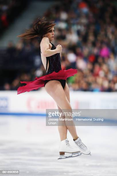 Ashley Wagner of the United States competes in the Ladies Free Skating during day three of the World Figure Skating Championships at Hartwall Arena...