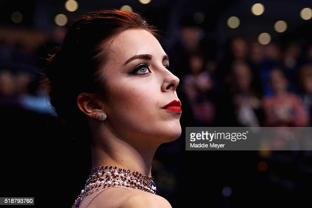 Ashley Wagner of the United States looks on before the Ladies Free Skate program on Day 6 of the ISU World Figure Skating Championships 2016 at TD...