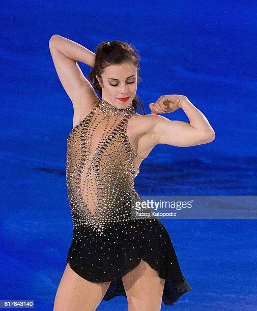 Ashley Wagner of the US performs at the Smucker's Skating Spectacular at 2016 Progressive Skate America at Sears Centre Arena on October 23 2016 in...