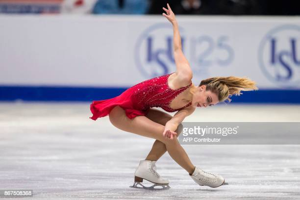 Ashley Wagner of the US performs her free program at the 2017 Skate Canada International ISU Grand Prix event in Regina, Saskatchewan, Canada, on...