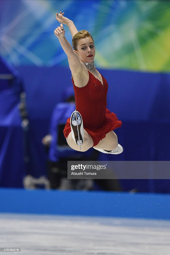 Ashley Wagner of the USA competes in the ladies free skating during the day three of the ISU World Team Trophy at Yoyogi National Gymnasium on April 18, 2015 in Tokyo, Japan.