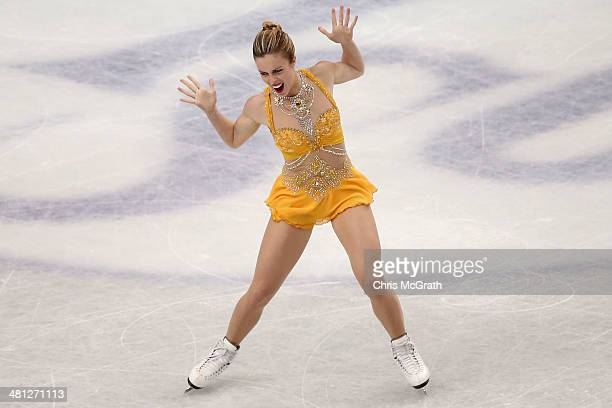 Ashley Wagner of the USA competes in the Ladies Free Skating during ISU World Figure Skating Championships at Saitama Super Arena on March 29, 2014...