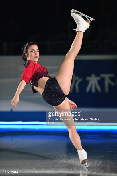 Ashley Wagner of the USA performs in the gala exhibition during the day 4 of the ISU World Team Trophy 2017 on April 23 2017 in Tokyo Japan