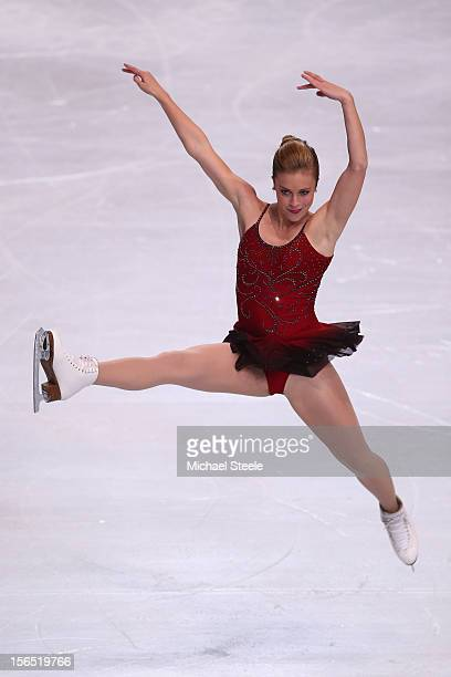 Ashley Wagner of USA during the Ladies Short Program on day one of the ISU Grand Prix of Figure Skating Trophee Eric Bompard at Omnisports Bercy on...