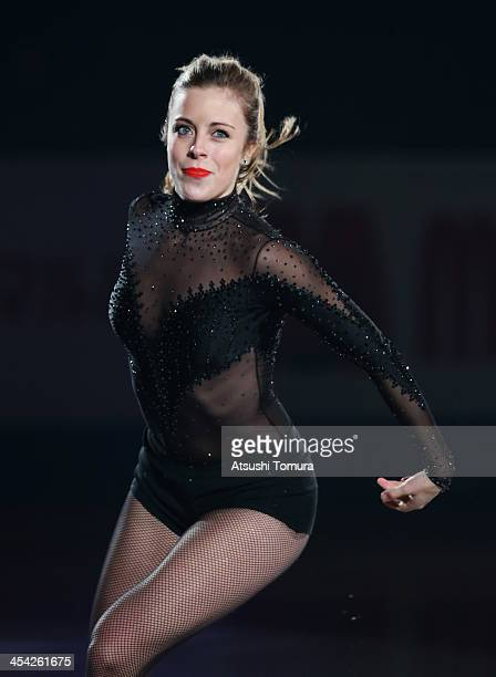Ashley Wagner of USA performs her routine in the Gala during day four of the ISU Grand Prix of Figure Skating Final 2013/2014 at Marine Messe Fukuoka...