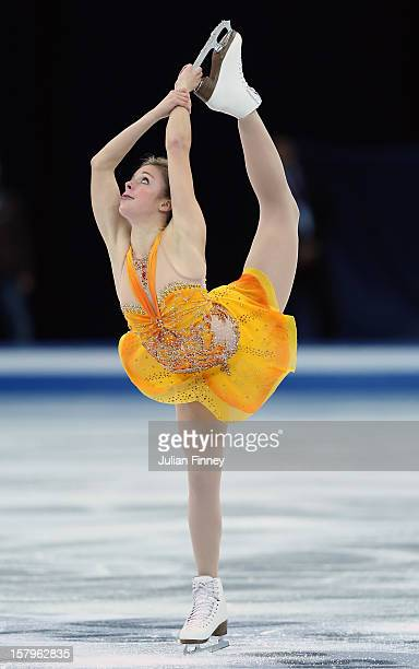 Ashley Wagner of USA performs in the Ladies Free Skating during the Grand Prix of Figure Skating Final 2012 at the Iceberg Skating Palace on December...