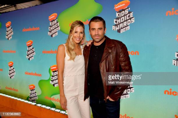 Ashley Wahler and Jason Wahler attend Nickelodeon's 2019 Kids' Choice Awards at Galen Center on March 23 2019 in Los Angeles California