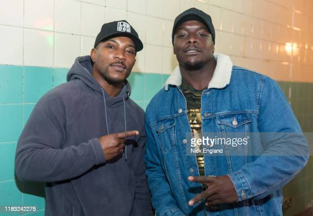 Ashley Walters and Adebayo Akinfenwa at the Call of Duty Modern Warfare launch event at The Truman Brewery on October 24 2019 in London England