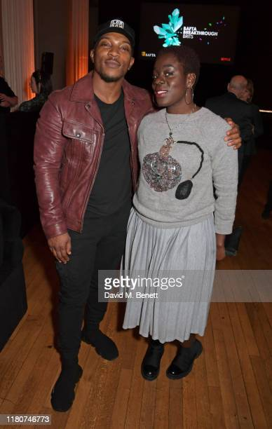 Ashley Walters and Akua Gyamfi attend the BAFTA Breakthrough Brits celebration event in partnership with Netflix at Banqueting House on November 7...