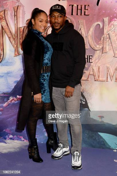 Ashley Walters and Danielle Isaie attend the European Gala Screening of Disney's 'The Nutcracker and The Four Realms' at Vue Westfield on November 01...
