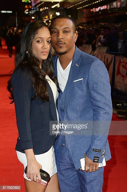 Ashley Walters and Danielle Isaie attend the European Premiere of Batman V Superman Dawn Of Justice at Odeon Leicester Square on March 22 2016 in...