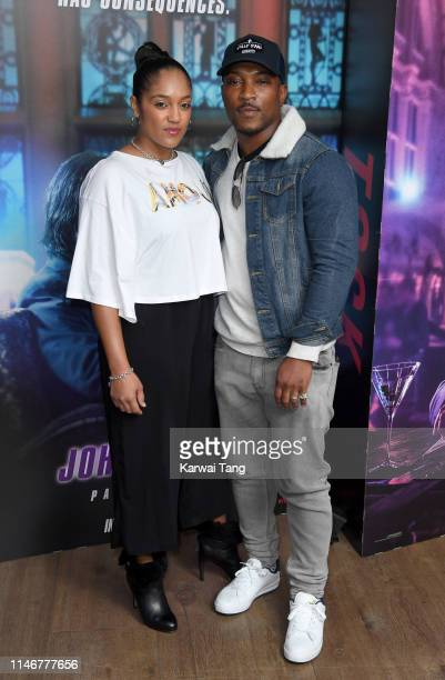 Ashley Walters and Danielle Isaie attend the John Wick Chapter 3 special screening at The Ham Yard Hotel on May 03 2019 in London England