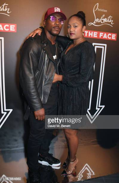 Ashley Walters and Danielle Isaie attend the LFW opening party hosted by Christian Louboutin The Face at Jack Solomons on September 13 2019 in London...