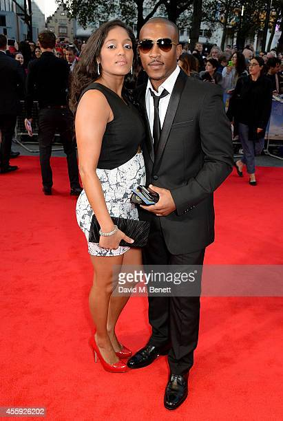 Ashley Walters and Danielle Isaie attend the World Premiere of What We Did On Our Holiday at Odeon West End on September 22 2014 in London England