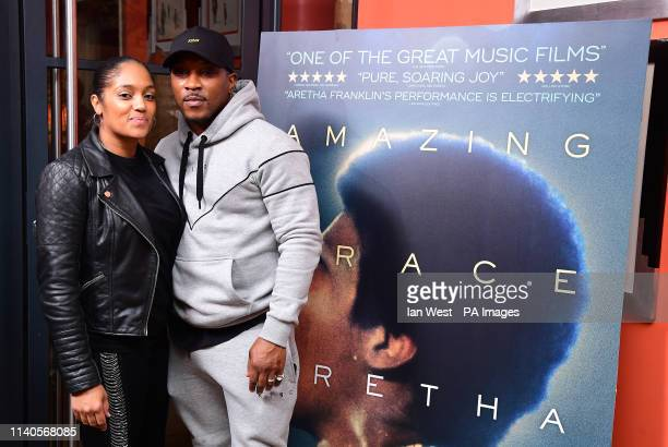 Ashley Walters and Danielle Isaie attending the screening of The Aretha Franklin documentary Amazing Grace, at Ham Yard Hotel, London.