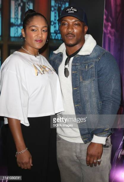 Ashley Walters and Danielle Isaie seen attending the John Wick Chapter 3 Parabellum a special film screening at The Ham Yard Hotel Denman Street