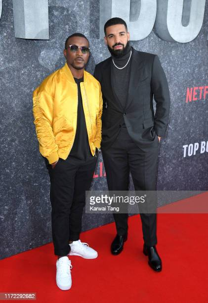 Ashley Walters and Drake attend the Top Boy UK Premiere at Hackney Picturehouse on September 04 2019 in London England
