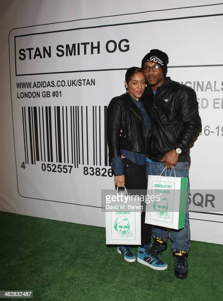 Ashley Walters and guest attend the @adidasuk #stansmith popup shop launch event on January 15 2014 in London England