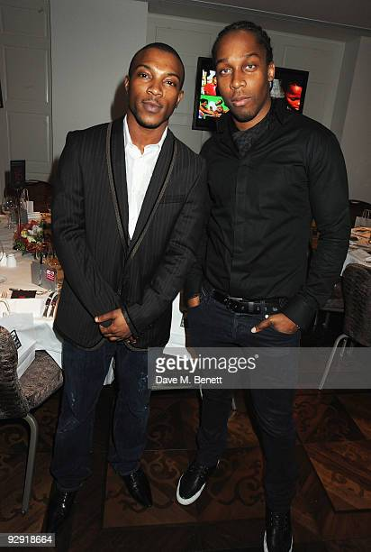 Ashley Walters and Lemar attend the MTV Staying Alive Foundation launch party for Travis McCoy's documentary 'The Unbeaten Track' and single 'One At...