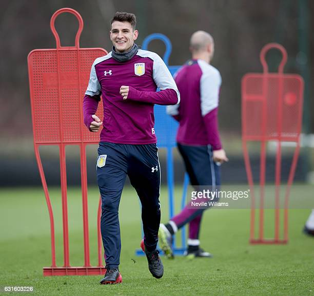 Ashley Westwood of Aston Villa during a training session at the club's training ground at Bodymoor Heath on January 13 2017 in Birmingham England