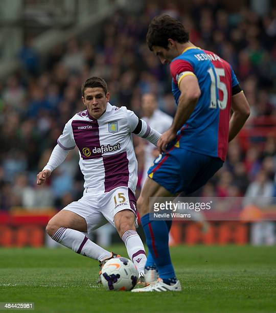 Ashley Westwood of Aston Villa during the Barclays Premier League match between Crystal Palace and Aston Villa at Selhurst Park on April 12 2014 in...