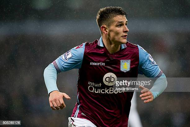 Ashley Westwood of Aston Villa during the Barclays Premier League match between Aston Villa and Leicester City at Villa Park on January 16 2016 in...