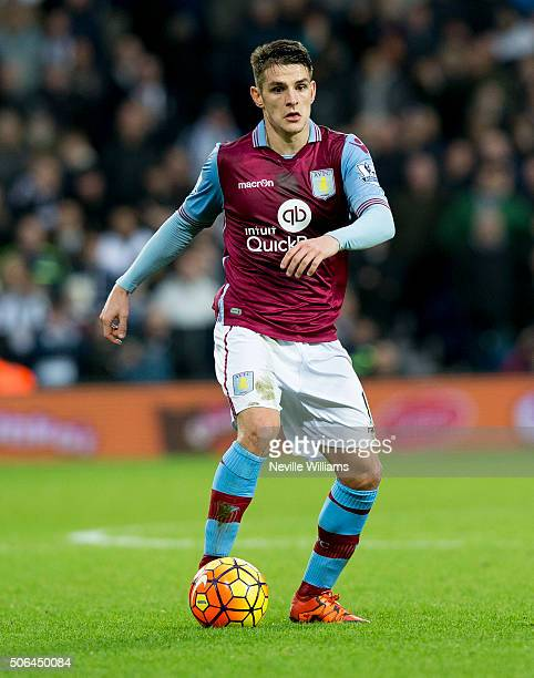 Ashley Westwood of Aston Villa during the Barclays Premier League match between West Bromwich Albion and Aston Villa at The Hawthorns on January 23...
