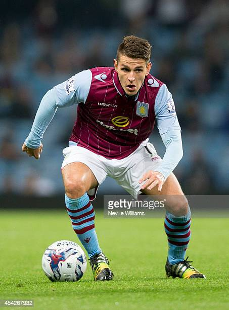 Ashley Westwood of Aston Villa during the Capital One Cup second round match between Aston Villa and Leyton Orient at Villa Park on August 27 2014 in...
