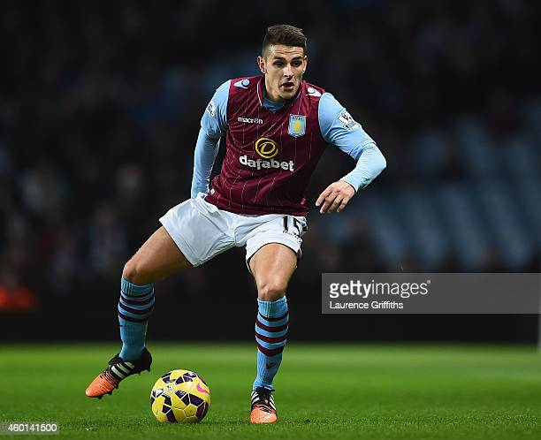 Ashley Westwood of Aston Villa in action during the Barclays Premier League match between Aston Villa and Leicester City at Villa Park on December 7...