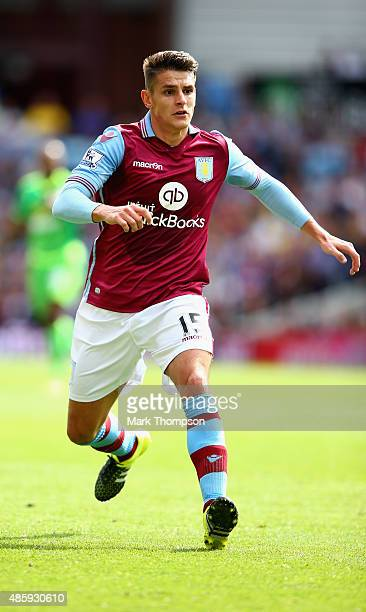 Ashley Westwood of Aston Villa in action during the Barclays Premier League match between Aston Villa and Sunderland at Villa Park on August 29 2015...