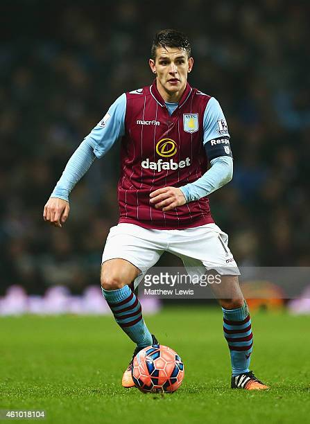 Ashley Westwood of Aston Villa in action during the FA Cup Third Round match between Aston Villa and Blackpool at Villa Park on January 4 2015 in...