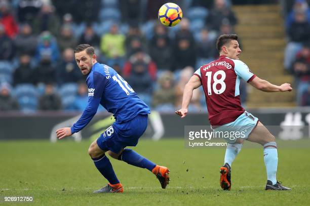 Ashley Westwood of Burnley and Gylfi Sigurdsson of Everton during the Premier League match between Burnley and Everton at Turf Moor on March 3 2018...