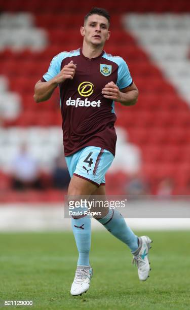 Ashley Westwood of Burnley looks on during the pre season friendly match between Kidderminster Harriers and Burnley at Aggborough Stadium on July 22...