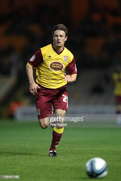 Ashley Westwood of Northampton Town in action during the npower League Two match between Port Vale and Northampton Town at Vale Park on October 14...