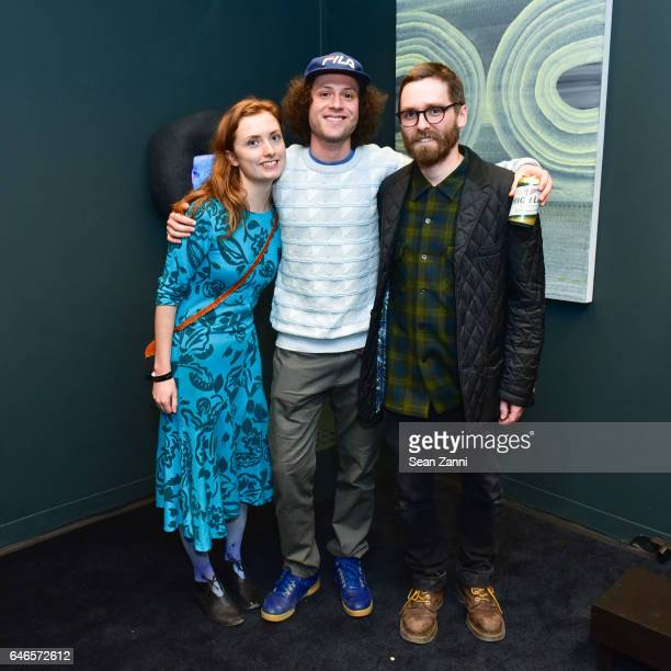 Ashley Wick Adam Lovitz and Patrick Maguire attend Spring Break Art Fair 2017 Vernissage at 4 Times Square on February 28 2017 in New York City