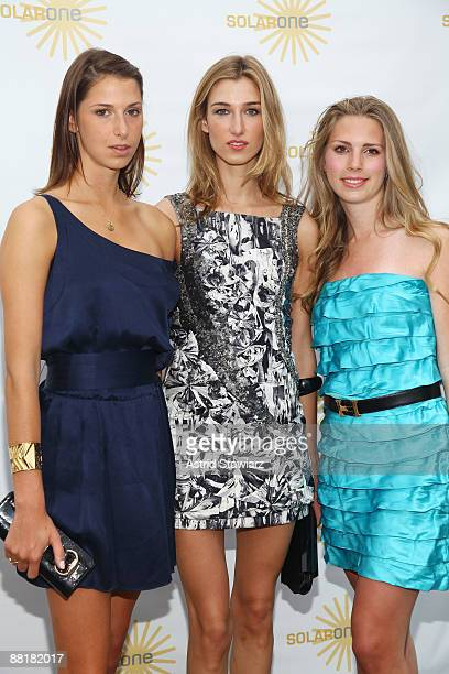 Ashley Wilcox Platt Lauren Remington Platt and Hadley Nagel attend Solar One's Annual Revelry By The River Benefit at Solar One on June 2 2009 in New...