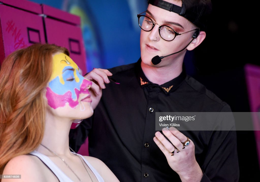 Ashley Wiley (L) and Daniel Smith at the 2017 NYX Professional Makeup FACE Awards Expo at The Shrine Auditorium on August 19, 2017 in Los Angeles, California.