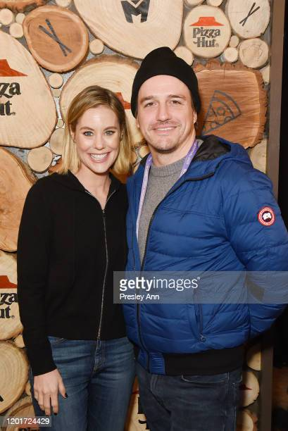 Ashley Williams and Neal Dodson of 'Meats' attend the Pizza Hut x Legion M Lounge during Sundance Film Festival on January 24 2020 in Park City Utah