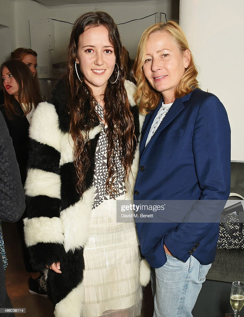 Ashley Williams (L) and Sarah Mower attend as Iconic British fashion label RED OR DEAD and London based NEWGEN design talent Ashley Williams celebrate the launch of the second phase of their exclusive Ashley Williams x RED OR DEAD footwear collaboration at Lights Of Soho on September 2, 2015 in London, England.