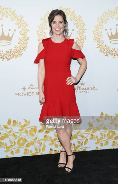 Ashley Williams attends Hallmark Channel And Hallmark Movies And Mysteries 2019 Winter TCA Tour at Tournament House on February 09 2019 in Pasadena...