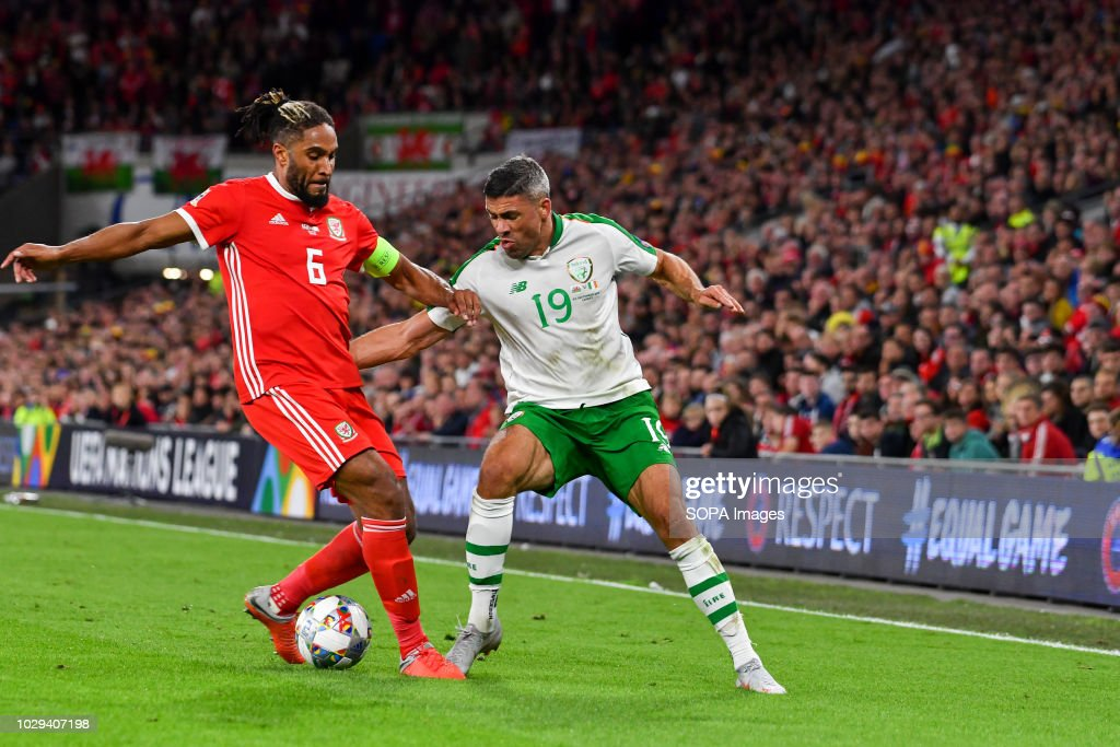 Ashley Williams (Captain) & Jon Walters seen in action... : News Photo