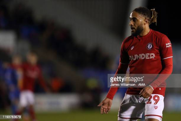 Ashley Williams of Bristol City during the FA Cup Third Round Replay match between Shrewsbury Town and Bristol City at New Meadow on January 14 2020...