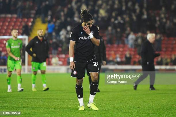 Ashley Williams of Bristol City reacts after the Sky Bet Championship match between Barnsley and Bristol City at Oakwell Stadium on November 01 2019...