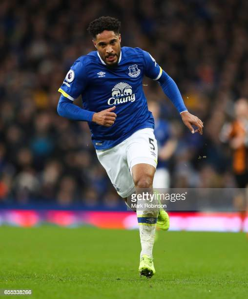 Ashley Williams of Everton during the Premier League match between Everton and Hull City at Goodison Park on March 18 2017 in Liverpool England