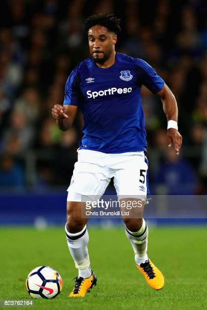 Ashley Williams of Everton in action during the UEFA Europa League Third Qualifying Round First Leg match between Everton and MFK Ruzomberok at...
