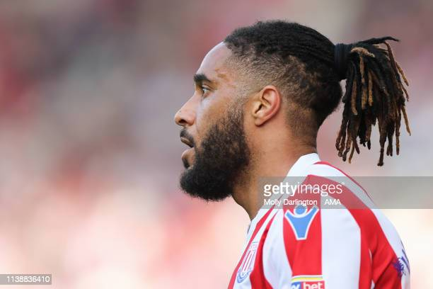 Ashley Williams of Stoke City during the Sky Bet Championship match between Stoke City and Norwich City at Bet365 Stadium on April 22 2019 in Stoke...