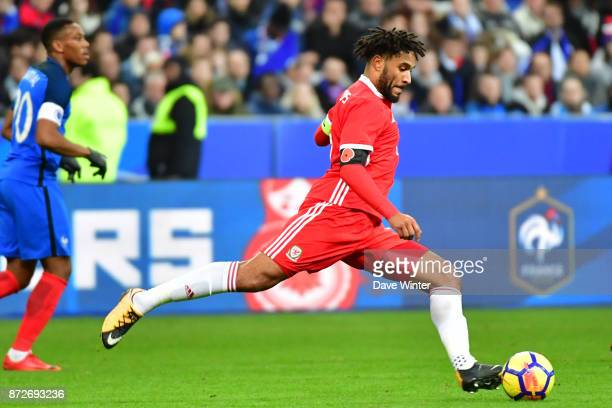 Ashley Williams of Wales during the international friendly match between France and Wales at Stade de France on November 10 2017 in Paris France