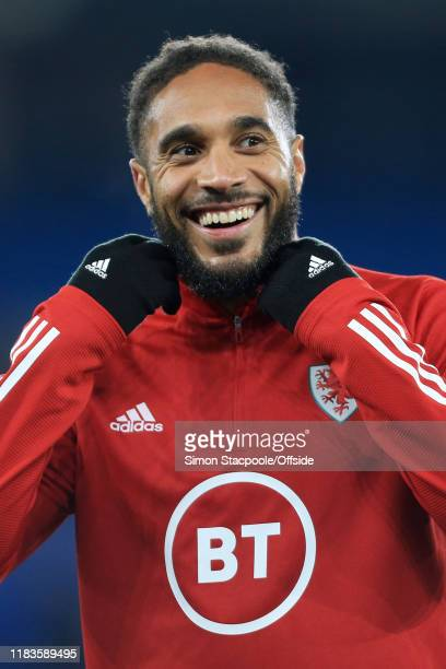 Ashley Williams of Wales smiles before the UEFA Euro 2020 Qualifier between Wales and Hungary at Cardiff City Stadium on November 19 2019 in Cardiff...