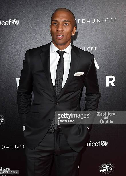 Ashley Young attends the United for UNICEF Gala Dinner at Old Trafford on November 29 2015 in Manchester England