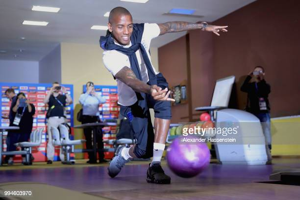 Ashley Young bowls ahead of England's press conference at Repino Cronwell Park Hotel on July 9 2018 in Saint Petersburg Russia